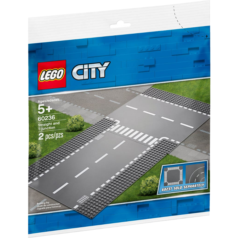 LEGO® City 60236 - Gerade und T-Kreuzung