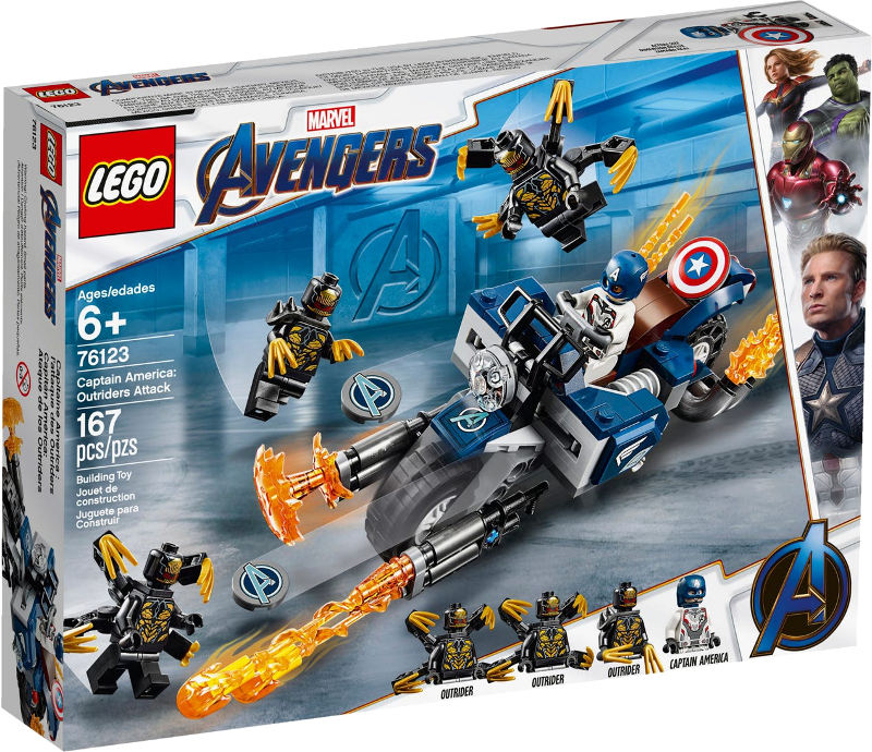 LEGO® Super Heroes 76123 - Captain America: Outrider-Attacke