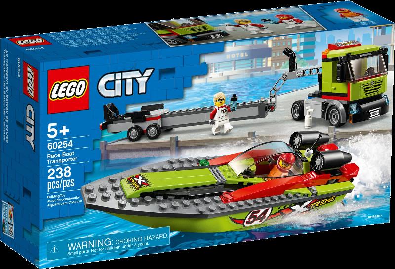 LEGO® City 60254 - Rennboot-Transporter