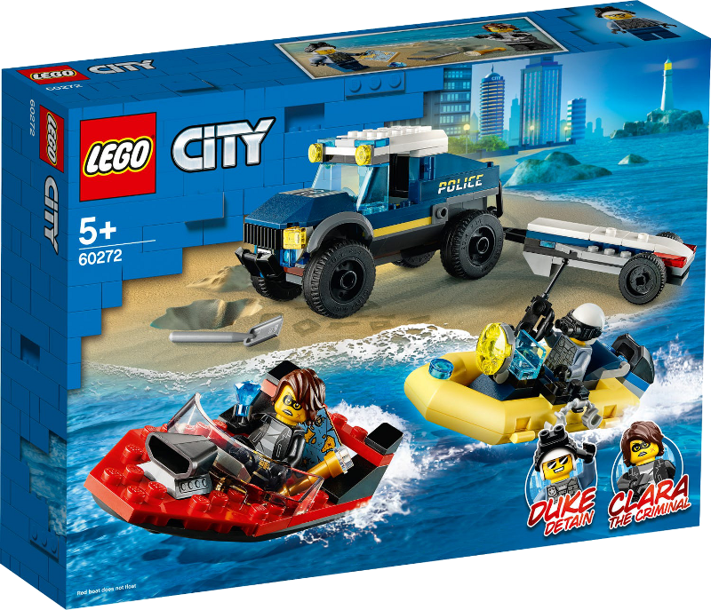 LEGO® City 60272 - Transport des Polizeiboots