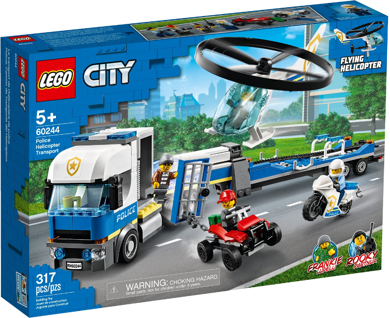LEGO® City 60244 - Polizeihubschrauber-Transport