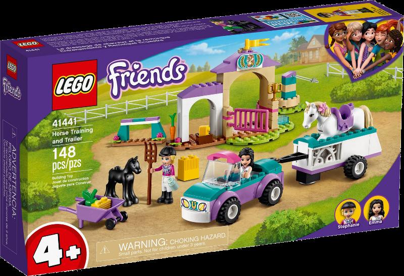 LEGO® Friends 41441 - Trainingskoppel und Pferdeanhänger