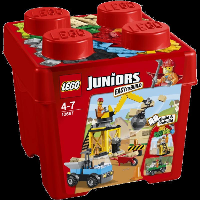 LEGO® Juniors 10667 - Starter Steinebox Baustelle