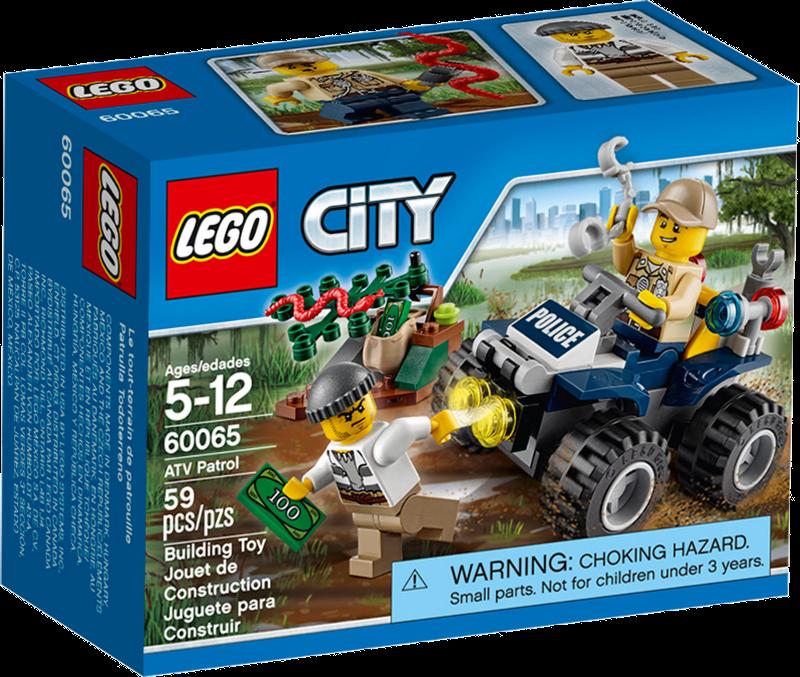 LEGO® City 60065 - Auf Streife im Sumpfpolizei-Quad