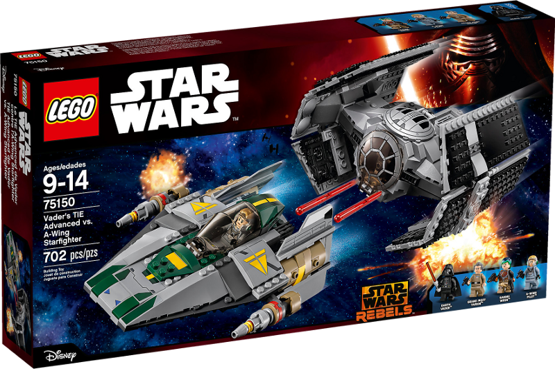 LEGO® Star Wars 75150 - Vader's TIE Advanced vs. A-Wing Starfighter