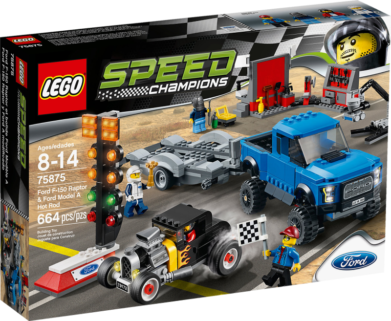 LEGO® Speed Champions 75875 - Ford F-150 Raptor & Ford Model A Hot Rod
