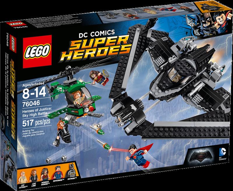 LEGO® Super Heroes 76046 - Helden der Gerechtigkeit: Duell in der Luft