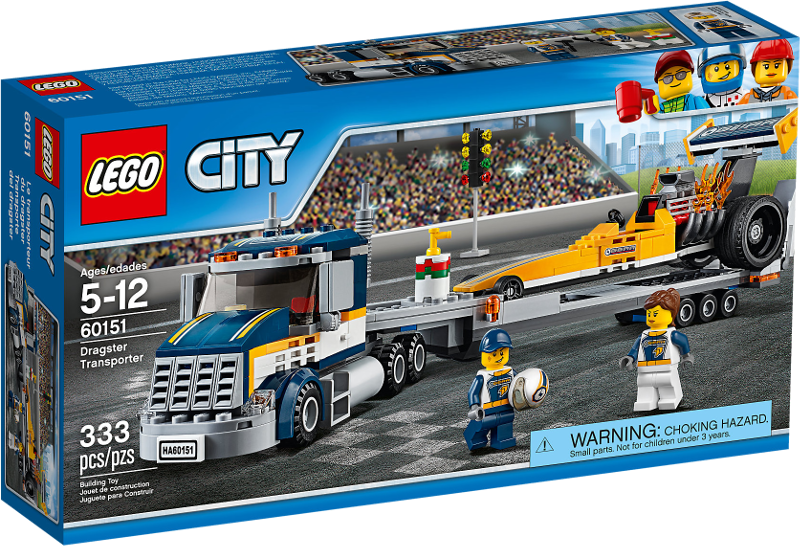 LEGO® City 60151 - Dragster-Transporter