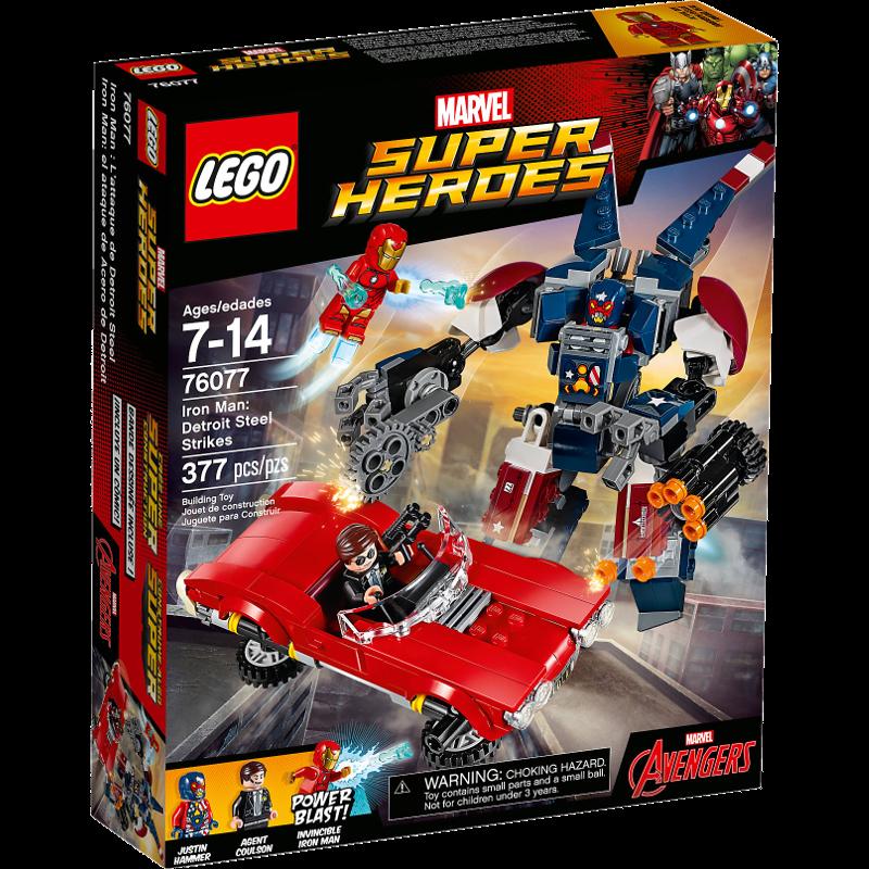 Lego Super Heroes 76077 - Iron Man gegen Detroit Steel