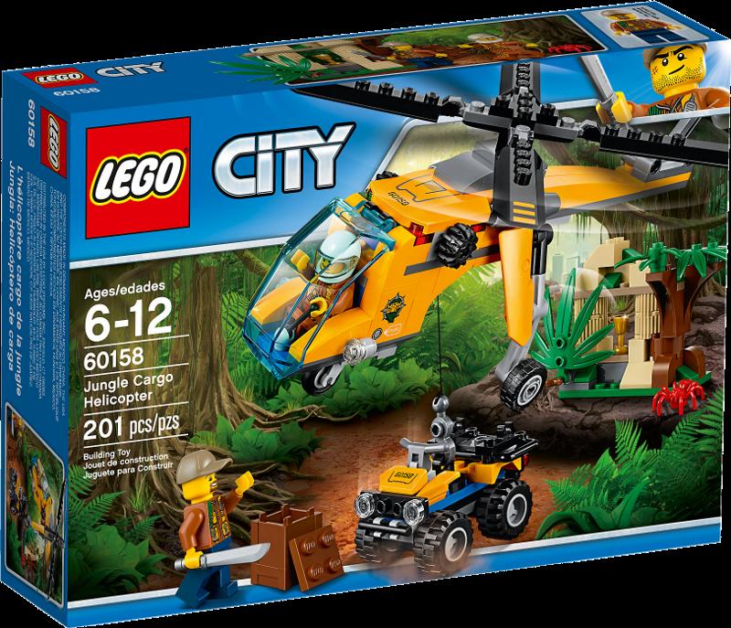 LEGO® City 60158 - Dschungel-Frachthubschrauber
