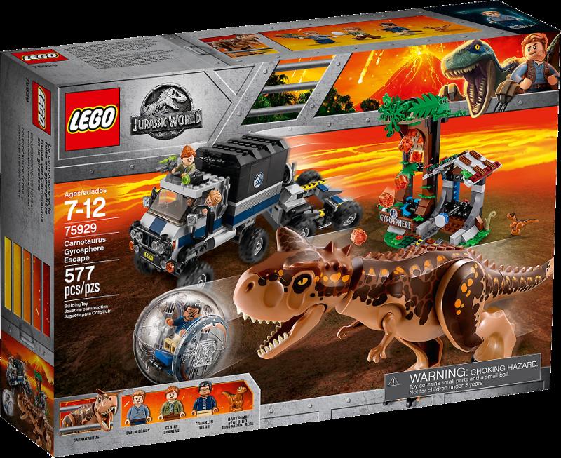 LEGO® Jurassic World 75929 - Carnotaurus - Flucht in der Gyrosphere