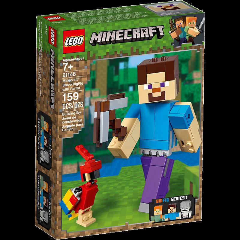 LEGO® Minecraft 21148 - BigFig Steve mit Papagei