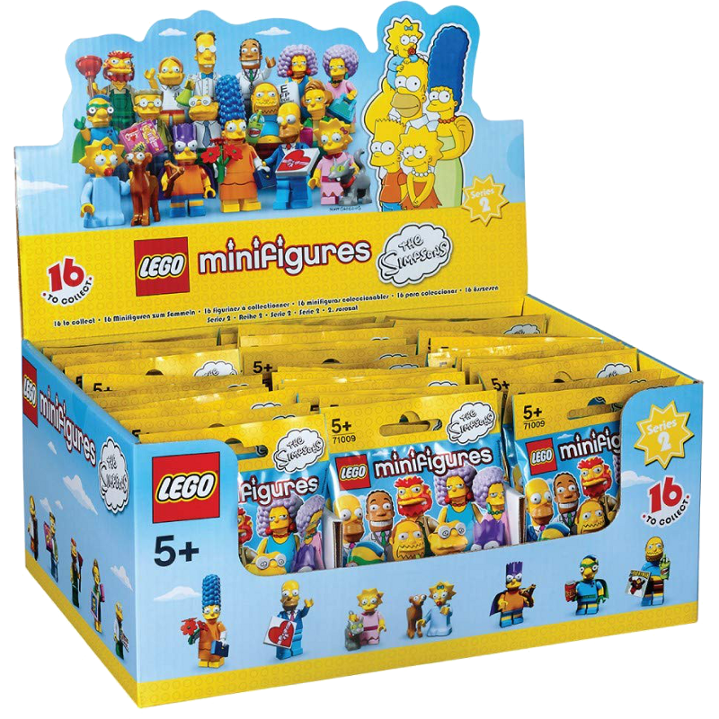 LEGO® Minifigures Simpsons Serie 2 71009 - 60x Minifigur in Box
