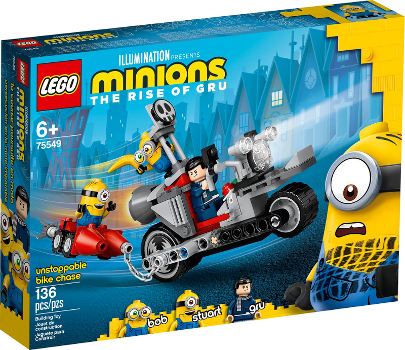 LEGO® Minions 75549 - Unaufhaltsame Motorrad-Jagd
