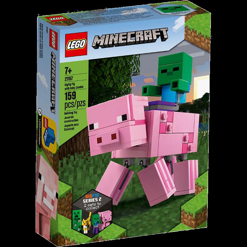 LEGO® Minecraft 21157 - BigFig Schwein mit Zombiebaby