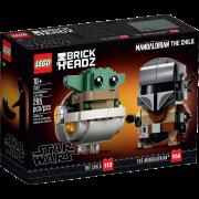LEGO® Star Wars™ BrickHeadz 75317 - Der Mandalorianer™ und das Kind